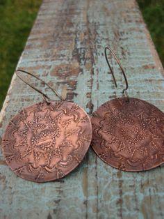 Large Bohemian Earrings by CopperTreeArt on Etsy, $30.00