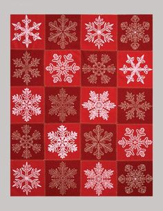 Felted Snowflakes