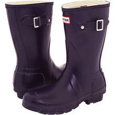 Hunter boots are a great example of cute and outdoorsy.  They come in many colors, Mens, womans, and kids. I love these short cut ones because i can wear them with jeans or leggings. $130