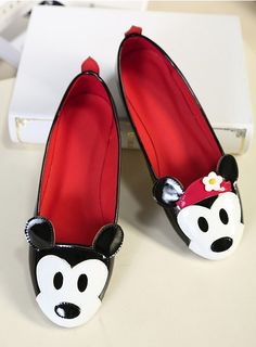 Fashion Cute Mickey Mouse Flat Shoes