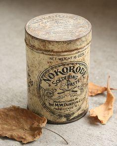 Vintage Nokorode Soldering Paste Can by Leader Of Men, via Flickr