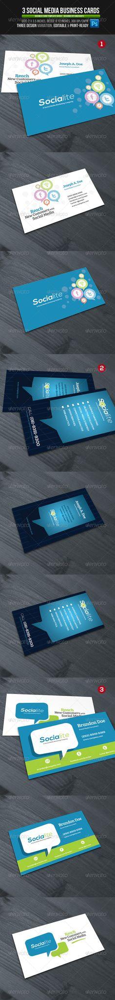 Social Cloud : Social Media Business Cards   Teckensnitt, Sociala ...