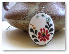 Valentines day Gift  Hungarian Folk Motif Jewelry by Floraljewel, $36.00