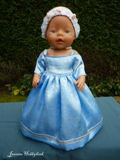 Feestjurk met petticoat en hoofdband. Voor BabyBorn 43 cm. Patroon Christel…