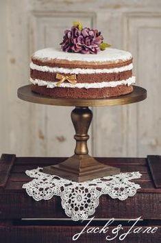 Antikolt arany fa tortatálak - Lady3   Jack&Jane tortaállványok Lady