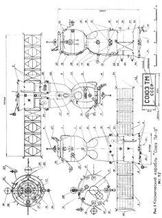 Soyuz TM-9 1/72 scale drawings by V.Bobkov (NPO/RKK Energia insider)