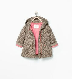 Image 1 of PRINTED PARKA WITH DETACHABLE PADDING from Zara