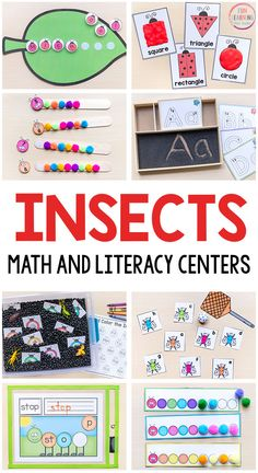 These insect theme printables are all fun and engaging activities for your math and literacy centers this spring.