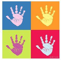 Pop Art Handprint