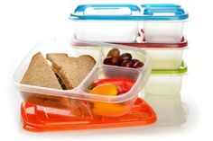 EasyLunchboxes 3-Compartment Bento Lunch Box Containers 3 Compartment Food Containers, Lunch Box Containers, Easy Lunch Boxes, Snack Box, Bento Box Lunch, Lunch Snacks, Food Storage Containers, Lunch Ideas, Keto Snacks