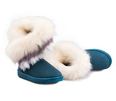 Another Summer Women Winter Boots High Long Snow Ankle Boots Faux Fox Fur Shoes *** Check out this great product.