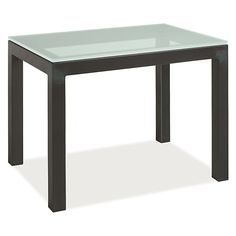 Room & Board - Parsons 30w 20d 29h Table ($359 as shown, lots of options and sizes, you can do a custom size if you want).