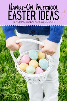 Include some hands-on fun with these Easter ideas that toddlers and preschoolers will love!This collection is perfect for the classroom and home. #preschool #toddlers #easter #spring #art #sensory #2yearolds #3yearolds #activities #teaching2and3yearolds Diy Crafts For Kids Easy, Easter Crafts For Adults, Easter Ideas, Easter Activities, Preschool Activities, Toddler Preschool, Toddler Crafts, Spring Art, Toddlers