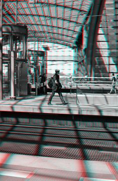 Arrival - Stereoscopic 3D image. Frozen in Time: A perspective on time travel by Lars Brandt Stisen
