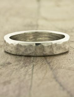 Customized rustic wedding rings. For him, def an outdoorsy kinda guy
