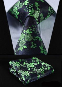 100%Silk Wedding Jacquard Woven Men Tie Necktie Pocket Square Set
