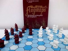 Flagships-board-game-abstract-strategy-maritime-navy-COMPLETE-amp-VERY-RARE