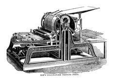 Une presse Hoe, qui a permis d'augmenter considérablement les tirages des journaux au cours du 19e siècle