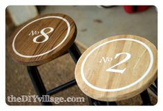 vintage style stool makeover