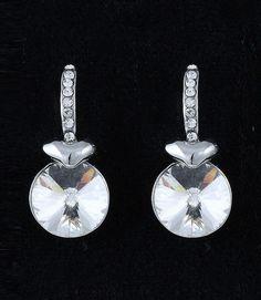Dangle Drop Crystal Studs Silver Tone Pierced Post Glass Stone Fashion Earrings #DazzledByJewels #Drop #Dangle #Teen #Gift #Fashion #Jewelry