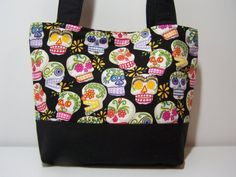 You will be mine! Skulls Purse in Black Purse by MidnightCreations on Etsy, $26.00