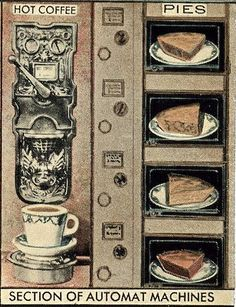 close-up;  Horn & Hardarts Automat / postcard by Betty Blade, via Flickr