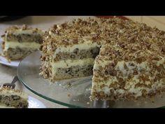 Ciasto orzechowe pychotka z najlepszym kremem budyniowym - YouTube Food Cakes, Tiramisu, Tea Party, Cake Recipes, Sweets, Cooking, Ethnic Recipes, Drink, Youtube