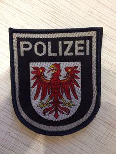 Germany Police Patch Brandenburg Deutschland Polizei 100% Original Rarity    eBay