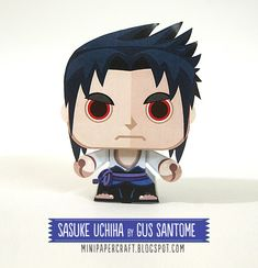 Mini Papercraft: Sasuke Uchiha mini paper toy