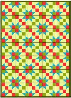 Road to Oklahoma quilt block and quilt pattern.