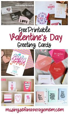 Free printable Valentine's day greeting cards