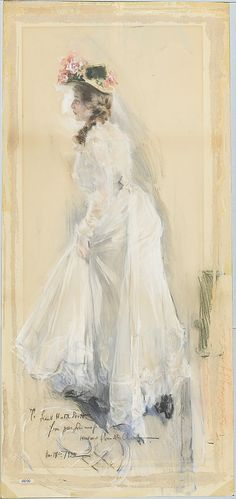 Woman in White 1906.  Howard Chandler Christy