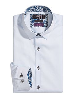 bff509f3005f Find the perfect semi-tailored shirt to complete your business look.  Discover our stylish selection of modern styles and motifs.