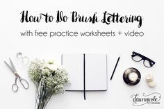 How to Do Brush Lettering with Free Practice Worksheets + Instructional Video. Download the free worksheets and get practicing!   dawnnicoledesigns.com