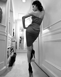 Cuban Heeled Stockings. #toosexy This is the right way to wear them, in our opinion...