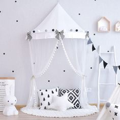 Play room tent , kids canopy , teepee for children , tipi, wall decor , home decor , nursery decor , play tent awning , indoor teepee by InOneBox on Etsy https://www.etsy.com/listing/567683681/play-room-tent-kids-canopy-teepee-for