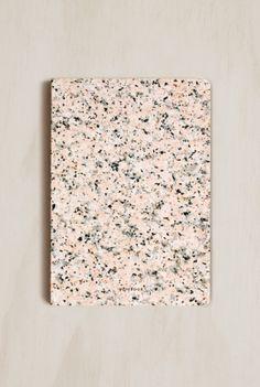 Dear Maison - Stone Notebook - B6 (13x18cm) - Plain - Pink Marble