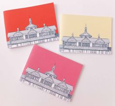 Set of 3 Travel Journals Dunoon Notebooks by peonyandthistle £12