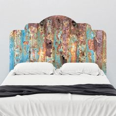 Paul Mooreu0027s Rusted Metal Headboard Wall Decal