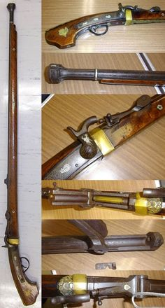 Japanese Choshu style matchlock converted to a breach loading Albini rifle (or Albini-Braendlin rifle), which was a single-shot 11mm rifle adopted by Belgium in 1867, 130cm length.