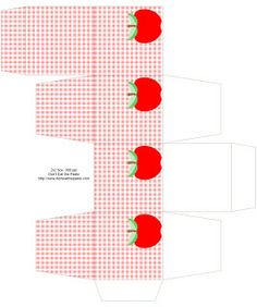 apple and gingham box to print and make