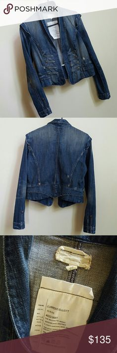 CURRENT/ELLIOTT distressed jean jecket Price OBO  This Jacket designed to have some distressed spots on it. In great condition. CURRENT ELLIOTT  Jackets & Coats Jean Jackets