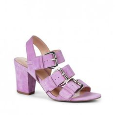 Sole Society - Suede sandals - Sable - Sheer Lilac