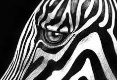 zebra drawing horse tim jeffs easy drawings eye head zebras ink timjeffsart creative pen tribal tattoos