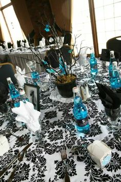 Damask (Black and White) 20 Table Overlays 90 By 90 Tablecloth off retail Sell Wedding Dress, Table Overlays, Damask Wedding, Wedding Decorations, Table Decorations, Recycled Bride, How To Find Out, Black And White, Retail