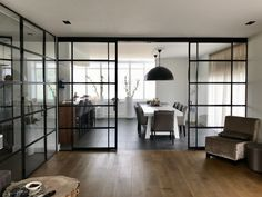 How To Install Sliding Barn Doors Inside Doors, Door Design Interior, Steel Doors And Windows, Interior, Home, Interior Barn Doors, Apartment Interior, Walls Room, Doors Interior