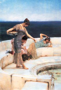 "Sir Lawrence Alma-Tadema - ""Silver Favorites"""