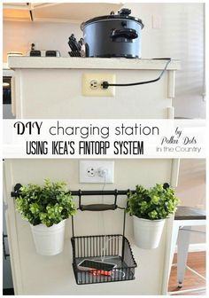 DIY Charging Station Using Ikea's Fintorp System.