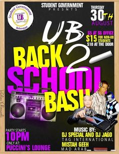 UB's Back to School Bash