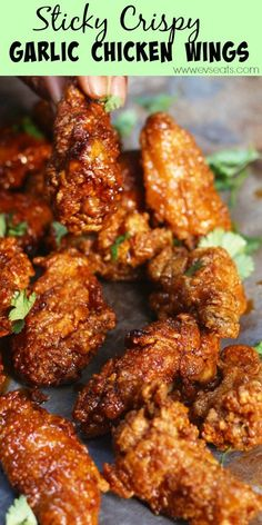 sticky-crispy-garlic-chicken-wings-pin